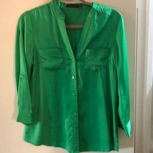 The limited green blouse